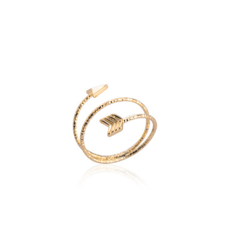 10pcs/lot Gold/Silver/Rose Gold Adjustable 2016 New Fashion Arrow  Ring for Women Cute Couple Midi Rings R151 - onlinejewelleryshopaus