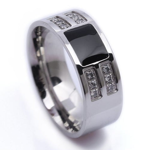 Mens Jewelry wholesale Stainless Steel Mens Ring USA Size 8, 9, 10  R226 - onlinejewelleryshopaus