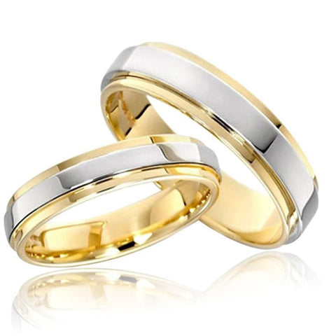 Classic 316L Titanium Steel Ring for Men / Women Gold Silver Color Tungsten Steel Ring Wedding Band Couple Ring Jewelry anillos