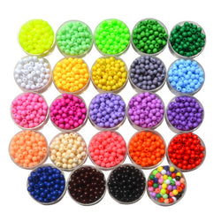 2000pcs 4mm Jewelry Making Acrylic Seed Spacer Beads Multi colors,Round Shape Acrylic Beads,DIY Accessory - onlinejewelleryshopaus
