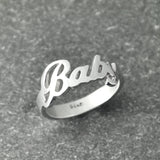 Custom  Name Ring, Handmade Ring, Alison Font  Wedding Ring , Personalized  silver name ring  charming jewelry - onlinejewelleryshopaus