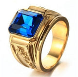 Weight  Mens Signet Rings Gold Ring Engraved Dragon Vintage Fashion Wedding Band Simple Jewelry Ring Male
