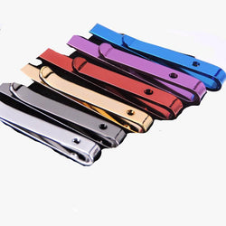 New Designers 6 Colors Hot Formal Necktie Tie Clip for Men's Skinny Glossy Tie Bar Wedding Stainless Steel Tie Clips Accessories - onlinejewelleryshopaus