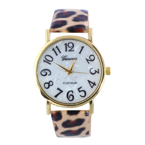 Women's Lady Watch Quartz Hours Fine Watch Fashion Dress Fashion Leather Bracelet Julius Leopard Panther Girl's Gift Print &Ff