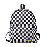 2019 Hot Sale Women Men Unisex Lattice Backpack New Trend checkerboard Teenager School Bag Couples Back Pack Travel Bag