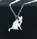 1 pcs little cute cat animal necklaces Stainless steel necklace pendant Fashion simple act the role ofing is tasted necklace - onlinejewelleryshopaus