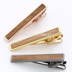 2016 New High quality Tie Bar Wood For Men's Tie clips High-grade hedgehog sandalwood Mens Business Wedding Tie Clip&Cuff links - onlinejewelleryshopaus