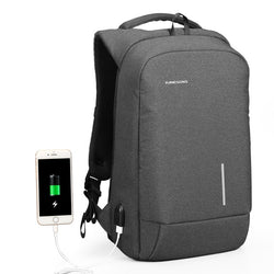 Kingsons Backpack Men 15.6 Inch Laptop Anti Theft Bagpack USB Charging Mini Back Pack for Teenager Boys Big School Business Bag