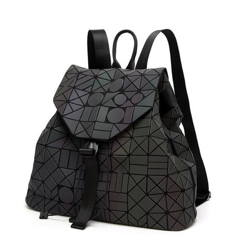 Geometric Luminous School Backpack for For Teenage Unisex