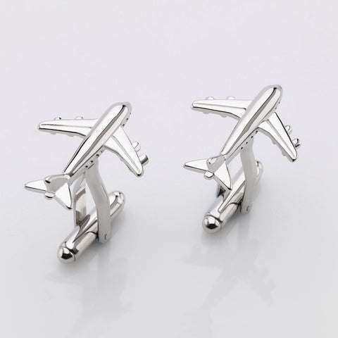 2015 Sale Real Tie Clip Lepton Fashion Plane Styling Cuff links Men's AirPlane Cufflinks For Mens Gifts Cufflinks Free Shipping - onlinejewelleryshopaus