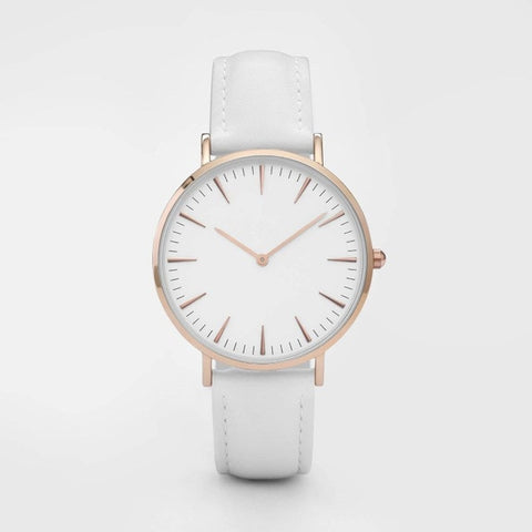 New Fashion Simple Leather Women Watches Ladies Fashion Casual Dress Quartz Watch Female Gift Clock Montre Femme Relojes Mujer