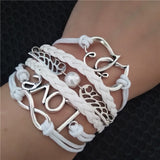 Bracelets and Bangles Chain and Link Bracelets 2016 Hot Sale Handmade Adjustable Love Anchor Pigeon Multilayer Bracelet Wristband Good-looking JUN 17