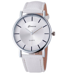 New Geneva Stylish Ladies Wrist Watches Women Fashion Simple Dial Leather Belt Analog Quartz Wrist Watch Clock Relogio Feminino