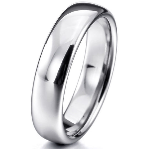 Women,Men's Wide 6mm Tungsten ring Band Silver Comfort Fit Classic Wedding Plain Dome Polished Size 4-16 Free Shipping - onlinejewelleryshopaus