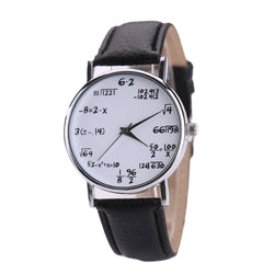 Ladies Watch Fashion Math Function Pattern Leather Alloy Analog Quartz Vogue Watches Wrist Watches For Women Reloj Mujer 999