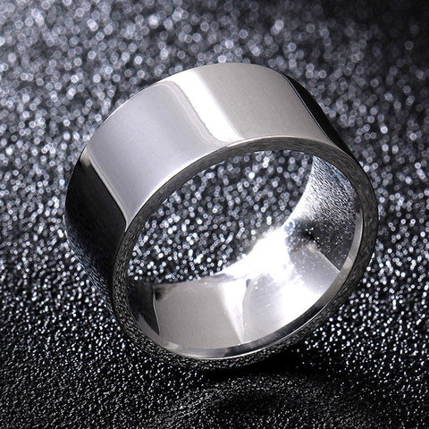 10mm Silver Color Stainless Steel Rings For Men and Woman Wholesale XY-R41