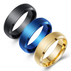 Tungsten Stainless Steel Ring Gold-Color Wedding Rings For Men Women