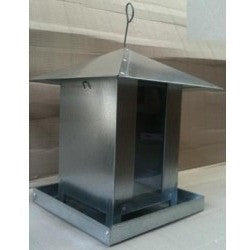 Square Bird Feeder - 2.5 Kg, With Perspex Viewing Window