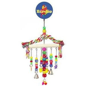 Birdie Large Hanger with Beads, dice plastic chain