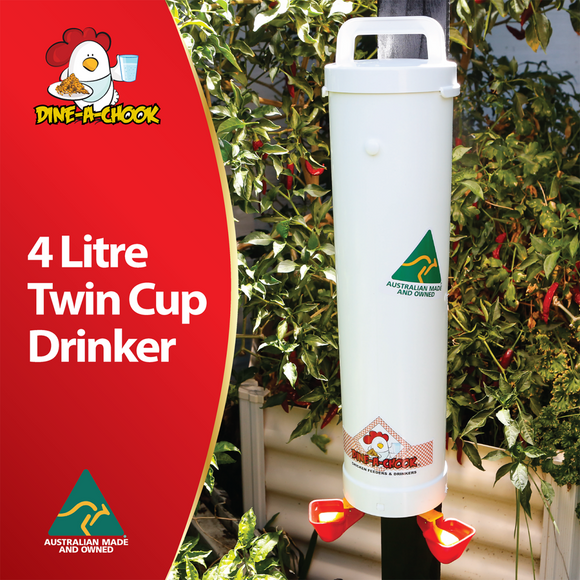 Dine a Chook  4 litre drinker with two cups