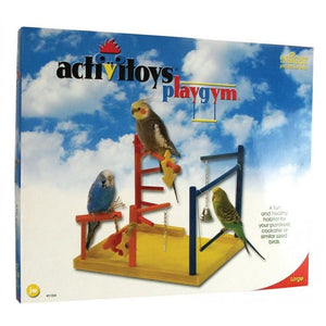 JW Insight WOOD PLAY GYM Large cm 31L x 26W x 32H