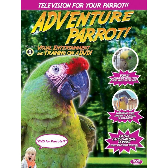 ADVENTURE PARROT DVD  1 Run Time 60 mins