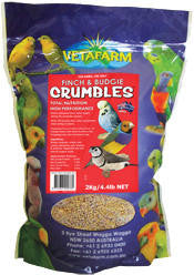 Vetafarm Canary, Finch and Budgie Crumbles 2kg