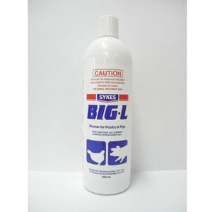 Big L Wormer for Pigs and Poultry 500ml
