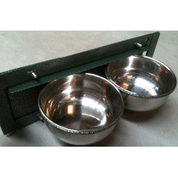 Metal Revolving Feeder with Two Cups 15cm