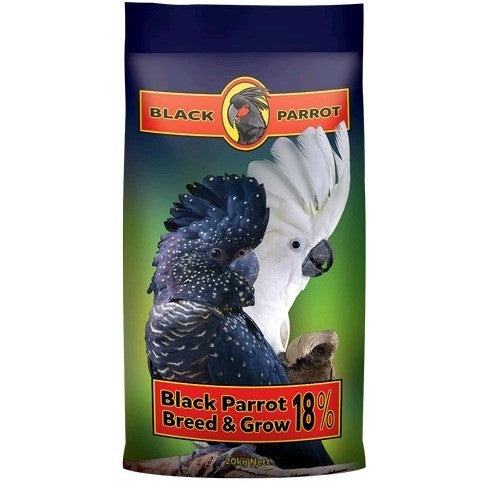 Black Parrot Breed and Grow Pellets 20kg