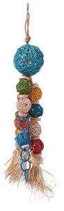 Feathered Friends Wicker Ball with Tassel