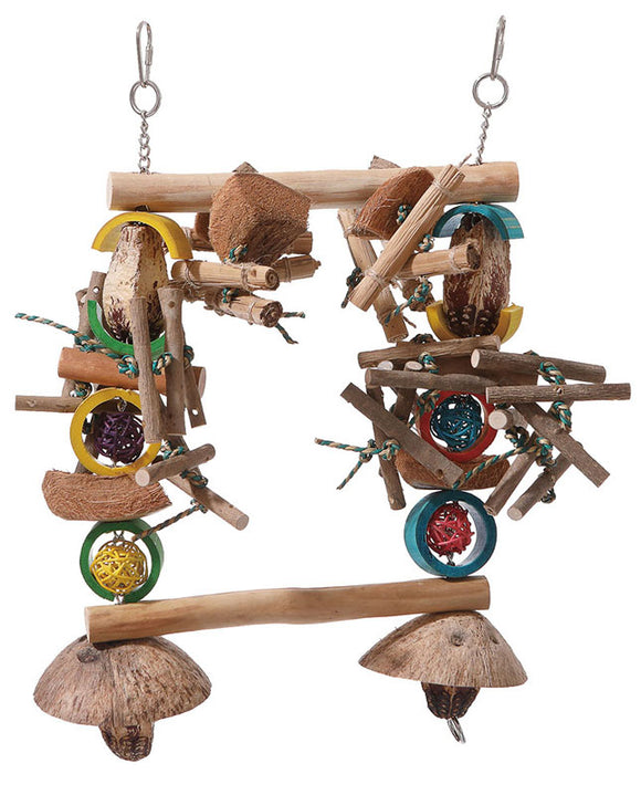 Feathered Friends Garden Totem Parrot Swing