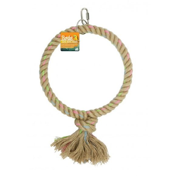 Birdie Jute Parrot Ring Giant Single 25cm