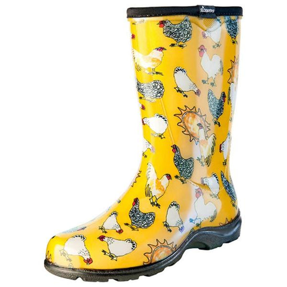Women's Splash Boots Chicken Print