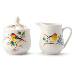 Ashdene Tree of Life Sugar Bowl and Creamer Set