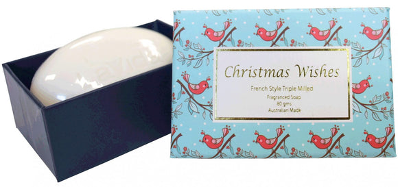 Beautiful Christmas Soap featuring Red Bird