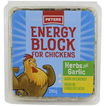Peters Energy Peck Block for Chickens - with Herbs and Garlic 280g
