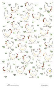 "Red Tractor Tea Towel ""Free Range Egg"""