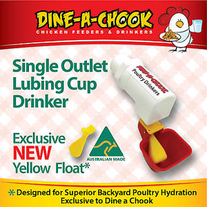 Dine a Chook Single Cup Outlet Drinker
