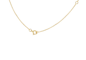 9ct Yellow Gold Plain Single Initial O Necklace