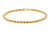 9ct Yellow Gold Hollow Rope Chain Bracelet