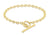 9ct Yellow Gold T-bar Oval Belcher Bracelet