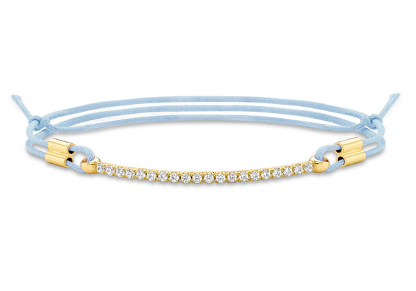 9ct Gold Crystal Bracelet on Blue String