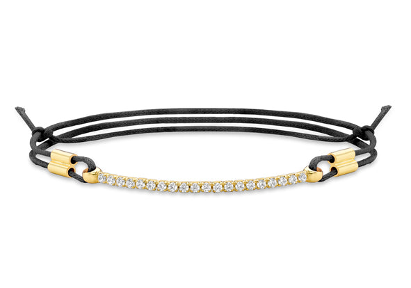 9ct Gold Crystal Bracelet on Black String