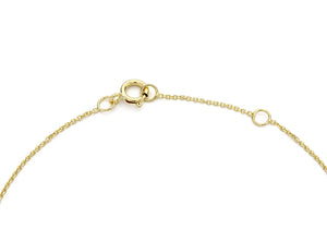 9ct Yellow Gold Plain Single R Initial Bracelet
