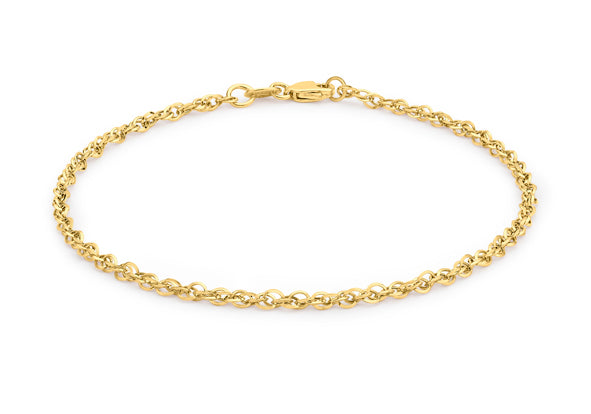 9ct Yellow Gold Fine Chain Bracelet