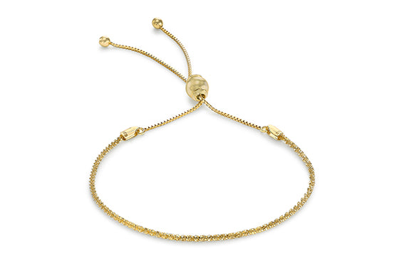 9ct Yellow Gold Diamond Cut Adjustable Bracelet