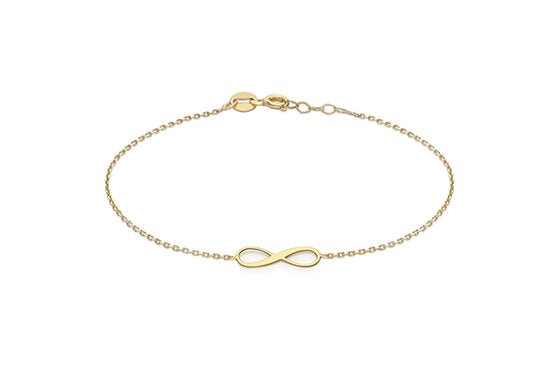 9ct Yellow Gold Infinity Bracelet