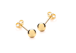 9ct Small 5mm Gold Ball Studs