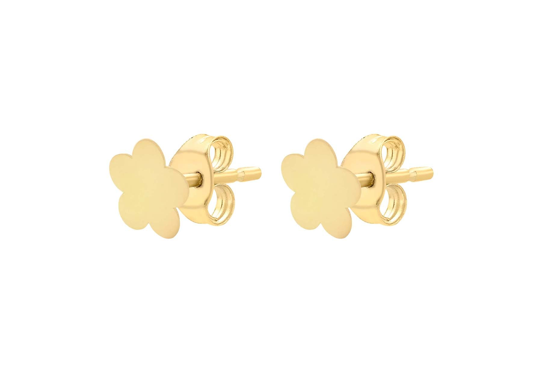 9ct Yellow Gold Flower Stud